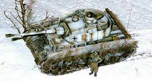 applying winter camouflage paint schemes on small scale tanks and