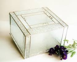 unique wedding card box elegant stained glass wedding keepsake display box reception