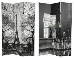 6 u0027 tall double sided paris room divider eiffel tower arc de