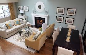 dining table in living room home interior design