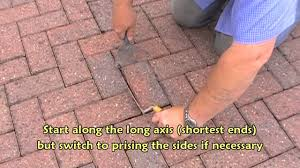 How To Remove Weeds From Patio Removing A Block Paver Using Basic Tools Youtube
