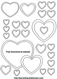 printable hearts coloring