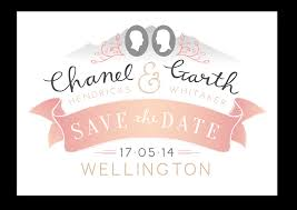Digital Save The Date Bells And Whistles Chanel And Garth U0027s Save The Date
