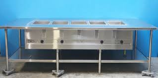 serving line steam tables eagle serving line 5 wells steam table in the center custom built
