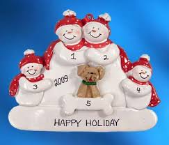 personalized snowman family with 4 ornament ornaments