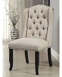 Wingback Dining Chairs Sale Great Deals On Furniture Of America Telara Linen Like Tufted