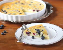 blueberry almond clafoutis basil and bubbly