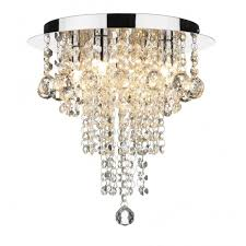 Chandelier Uk Circular Low Ceiling Light With Cascading Droplets