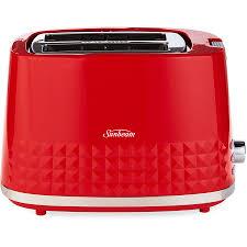 Sunbeam 2 Slice Toaster Sunbeam Diamond Red 2 Slice Toaster Big W