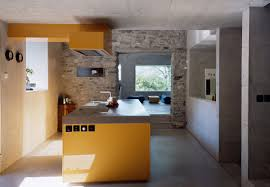 appealing kitchen design concept ideas using natural stone and