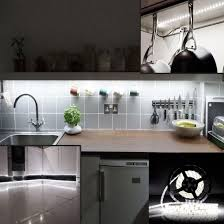 strip lighting for kitchens amazon com led strip light ledmo dc12v daylight white flexible
