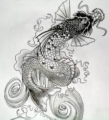 dragon tattoo arm tattoo design for an arm piece water dragon and koi fighting