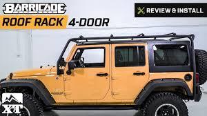 wrangler jeep 4 door jeep wrangler barricade roof rack 2007 2017 jk 4 door review