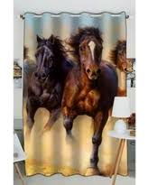 Pattern Window Curtains Horse Curtains At Low Prices