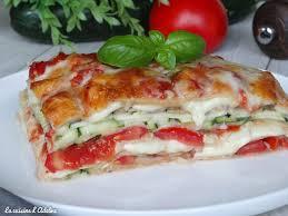 cuisine courgettes lasagnes végétariennes aux courgettes tomates et mozzarella la