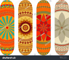 Mandala Style Skateboard Design Pack Stock Vector 177865013