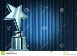 Blue Curtains Silver Star Award On Blue Curtains Stock Images Image 23708994