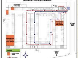 Parking Building Floor Plan Busy Herndon Parking Garage Shuts Down First Floor Spots Herndon