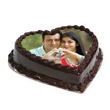 heart shape personalised cake floragalaxy