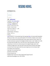 cara membuat novel bahasa inggris resensi buku novel