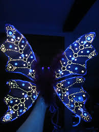 Pink Butterfly Fairy Lights by Children U0027s Or Adult Glow In The Dark Fairy Wings Costume Hand Made