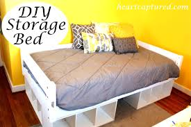 twin size storage bed queen with bookcase headboard beautiful
