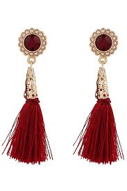 dangle earrings faux gemstone tassel dangle earrings fashion earrings trendy