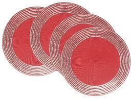amazon com now designs sequin placemats set of 4 cobblestone