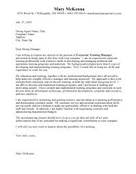 assistant trainer cover letter