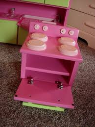 kitchen furniture set for american doll or 18 inch doll