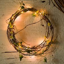 string light wreaths trees and freeform decorations improvised life