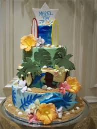 Tropical Themed Cake - ideas to make your beach themed bar or bat mitzvah a tropical