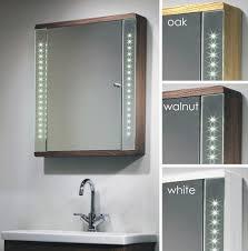 bathroom cabinets with lights best bathroom mirror cabinet with lights cabinets led shining design