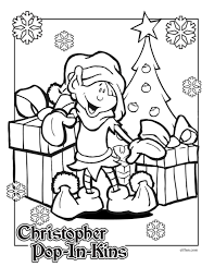 coloring pages pop in kins