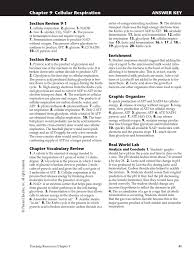 chapter 9 answer key cellular respiration fermentation