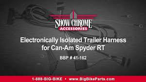 electronically isolated trailer wiring harness for can am spyder