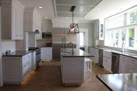 white tile pattern ceramic countertops gray kitchen cabinets