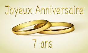 7 ans de mariage cadeau anniversaire de mariage 7 ans votre heureux photo de