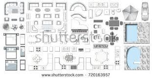 and bathroom floor plans set top view interior icon design stock vector 720163957