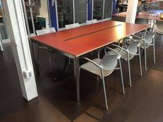 4 X 8 Conference Table 40 X 96 Welded Steel Conference Table Blue Powder Coating And