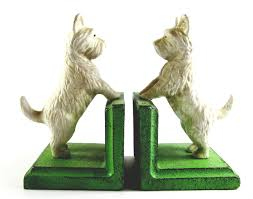 buy west highland terrier bookends cast iron aged appearance
