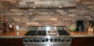 faux brick backsplash in kitchen kitchen backsplash brick look interior design