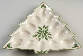 buy lenox dimension tree shaped deviled egg plate