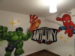chambre marvel creation d une chambre d enfant petit marvel graffeur pro