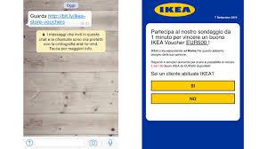 ikea si e social rispondi al sondaggio e vinci un buono ikea torna la truffa su whatsapp