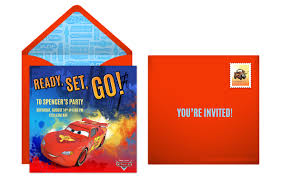 Online Birthday Invitation Card Maker Free Plan A Speedy Cars Birthday Party