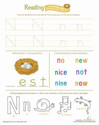 get ready for reading all about the letter n worksheet