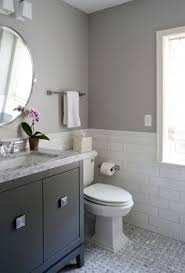 solitude by benjamin moore looks amazing in this bathroom designed