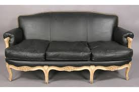 Repaint Leather Sofa French Louis Xv Painted Sofa Couch Faux Leather J6039 For Sale