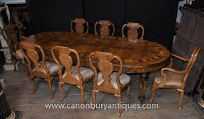 english walnut dining set queen anne and victorian table ebay
